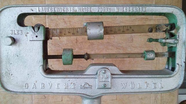 Stara waga garvens wulfel antyk wazy do 200kg