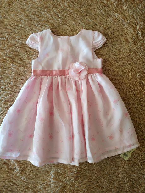 Новое шифоновое платье для девочки 3-6 мес