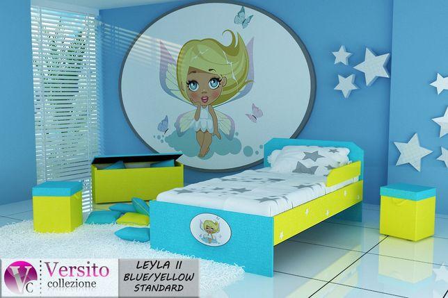 Łóżko dla dziecka z materacem,łóżko dziecięce tapicerowane tkaniną