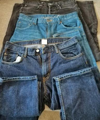 Jeansy używane firmowe Lee, H&M