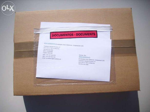 "Envelopes Auto adesivos ""Packing list"" transparente"