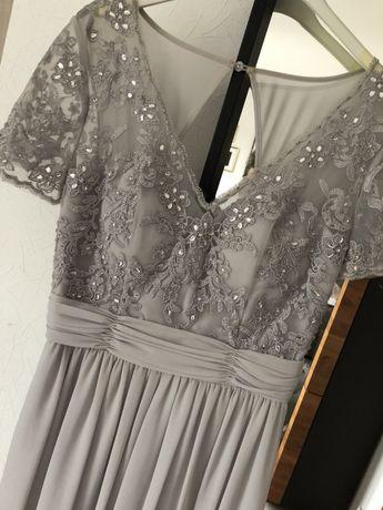 Sukienka maxi slub studniowka bal krzysztalki xl