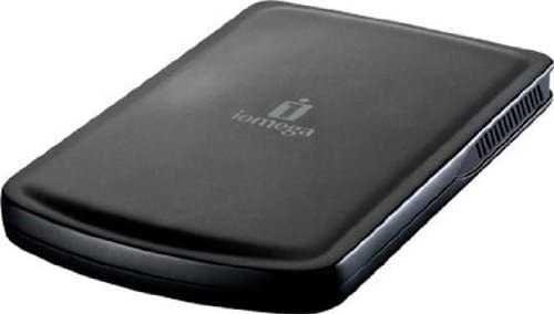 Disco portátil Iomega 500GB, cabo duplo USB,  compativel PC e Mac