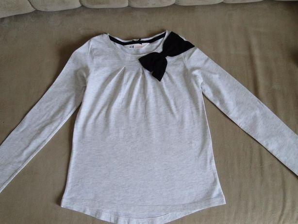 bluzki H&M roz.122/128 2 sztuki