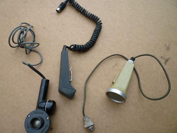 Zestaw mikrofonów milicyjnych PRL