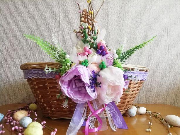 Украшение на пасхальную корзину, пасхальный декор, великодній декор