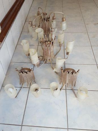 oświetlenie lampa kinkiet lampy piękne bambus liście orientalne