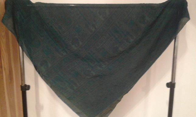 zielona indyjska chusta paisley
