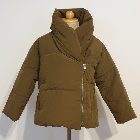 Zara gruba zimowa kurtka dziewczęca jak nowa rozm.116