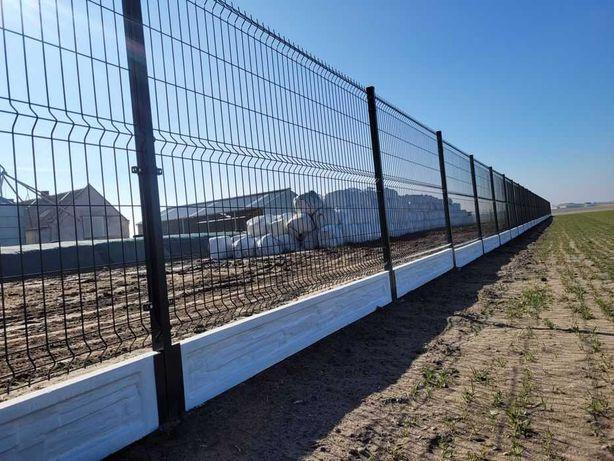 Kompletne ogrodzenie panelowe panele ogrodzeniowe na ceowniku montaż