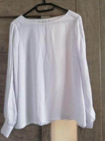 Biała bluzka (z lejącego materiału) TATUUM 38