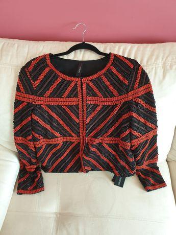 Żakiet damski renomowanej firmy Marc Cain r. 3 (38) hand made fashion