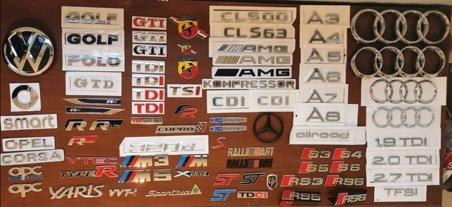 Simbolo Emblema Letras TDI S3 A3 FR RLine M Opc Amg VW Audi Seat GTI