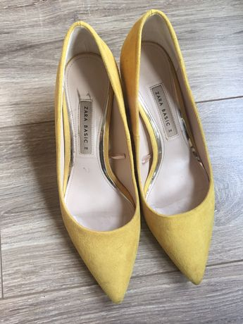 Zara r.38 buty żółte