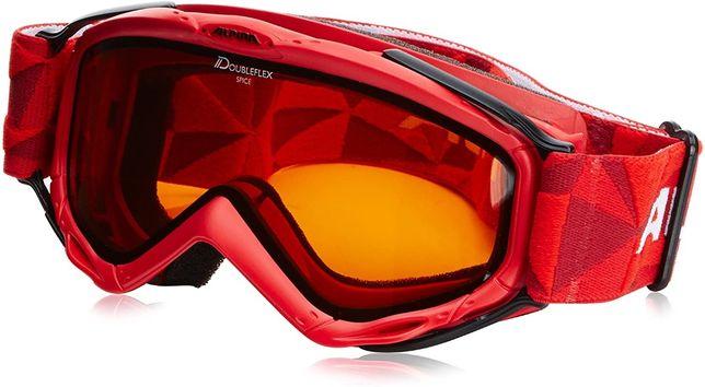 ALPINA SPICE DH DOUBLEFLEX RED gogle narciarskie snowboard dziecięce