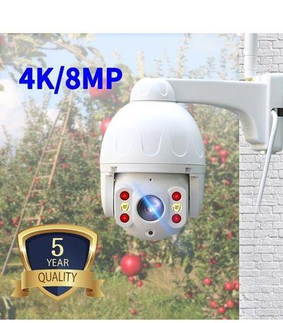 Câmera IP WIFI Vídeo Vigilância * 2160P 4k 8MP * PTZ 360 * AutoTraking