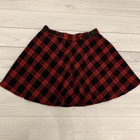 Zara твидовая юбка девочке  р.140 на 9-10 лет
