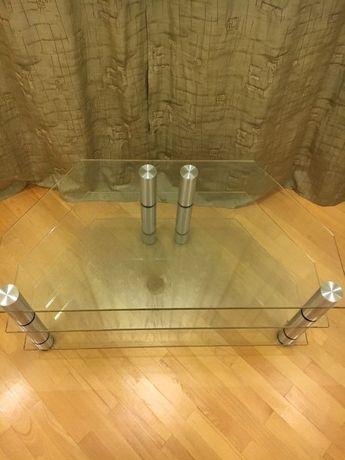 Продам стеклянний столик пол аппаратуру