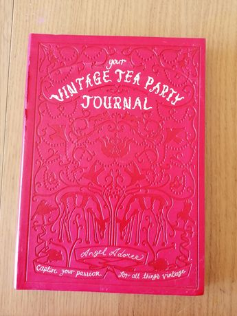 Vintage TEA party journal książka z przepisami, inspiracjami