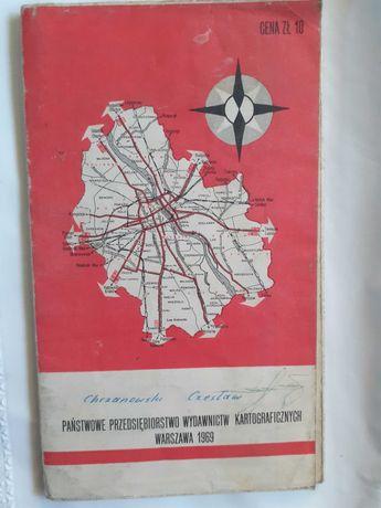 Plan Warszawy 1969 mapa