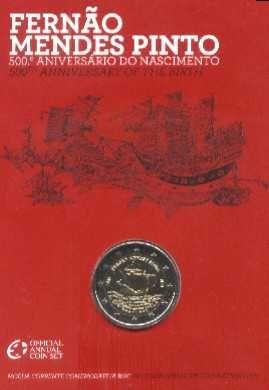 Espadim - carteira bnc - 2 euro - Ano 2011 - Fernão Mendes Pinto