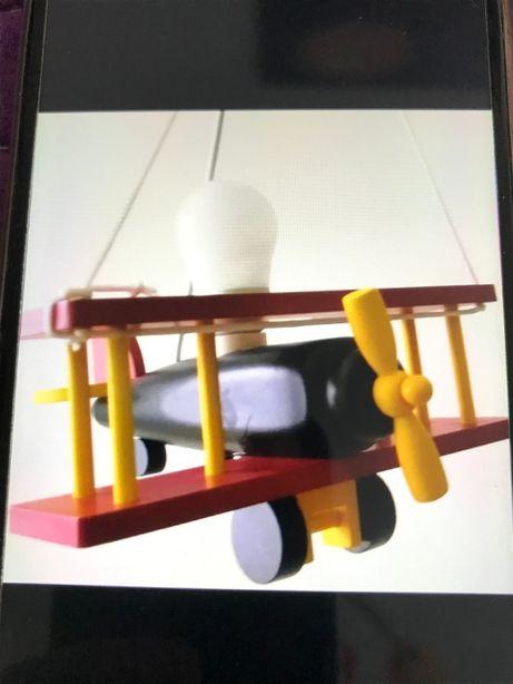 Samolot dwupłatowy żyrandol