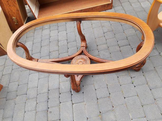 Owalny stolik,  bez szkła