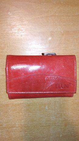 Кожаный кошелёк Ellini. Шкіряний гаманець