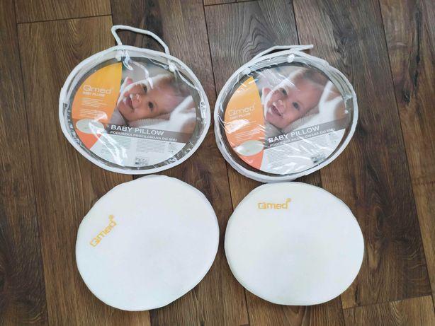 Poduszka QMED na płaską główkę dla niemowląt 2szt