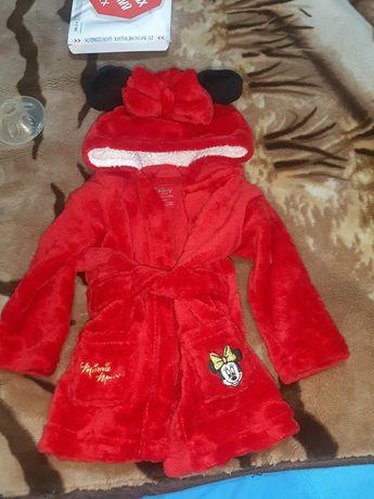 Детский халат с Минни от Disney 74 рост.6-9 мес