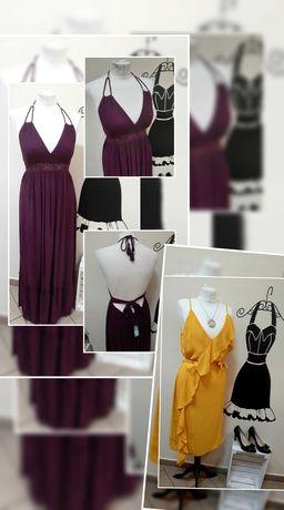 Pakiet sukienki nowe, używane, cream, odzież używana, sort