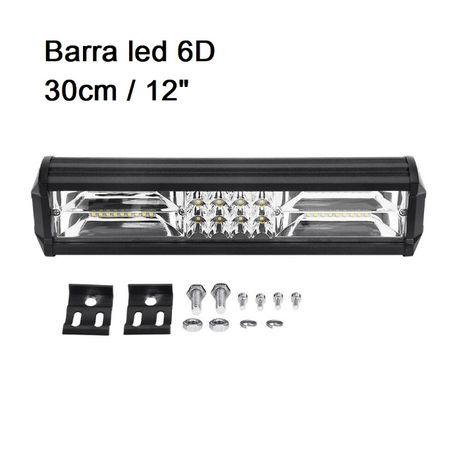 Barra Led 6D 30cm 43cm 63cm T79cm T 4x4