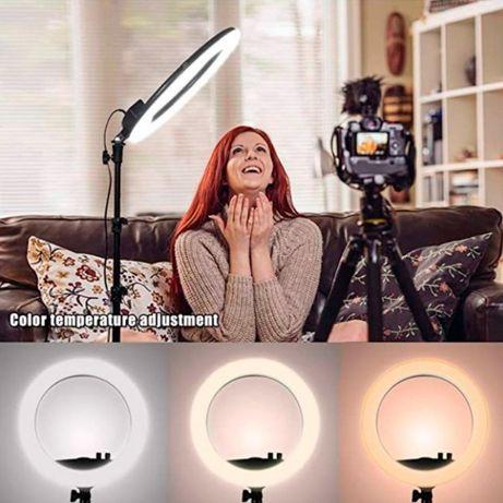 Хит продаж!! Кольцевая лампа 33 см + штатив 1.2 метра Подарок блогеру