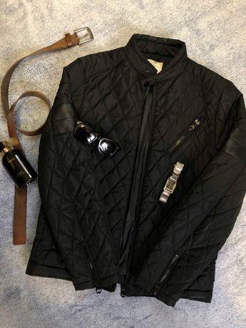 Бомбер/чёрная стёганая куртка кожаная Calvin zara levis guess polo