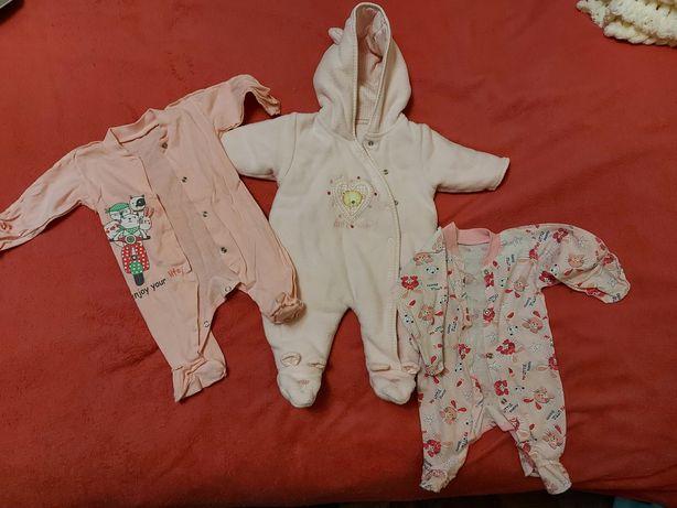 Детский тёплый человечек 0-3 месяца + 2 бодика