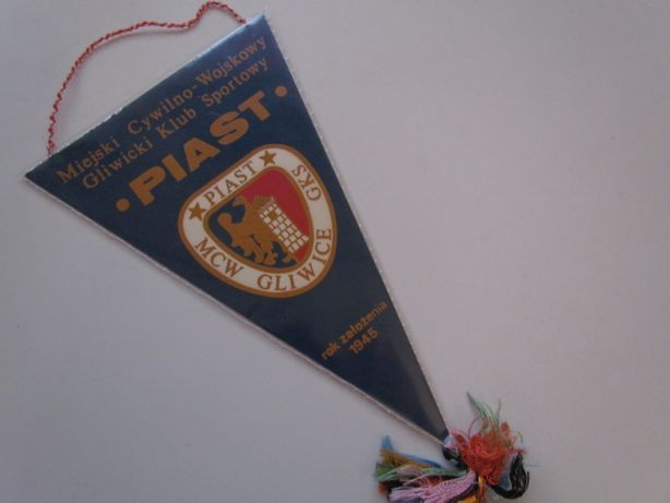 Proporczyk GKS Piast Gliwice Herb Polska Flaga