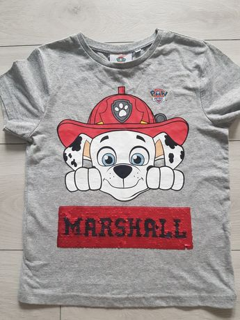 Koszulka Marshall Psi Patrol ,116-122cm Paw Patrol  cekiny