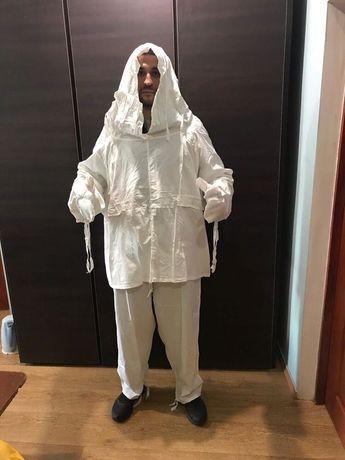 Маскировочный зимний костюм накидка СССР