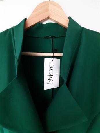 Zielona biznesowa sukienka Stylove.de