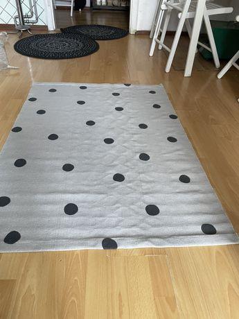 Nowy dywan h&m home 90x130 130x90 szary kropki kids dla dzieci
