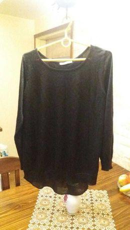 Czarny cienki sweterek Camaieu ozdobny tył