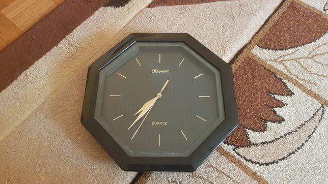 Zegar kronos - quartz, kolor CZARNO ZŁOTY, możliwość wysyłki