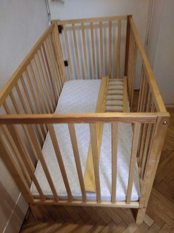 Łóżko dziecięce 120*60 z materacem Danpol, ochronną barierką