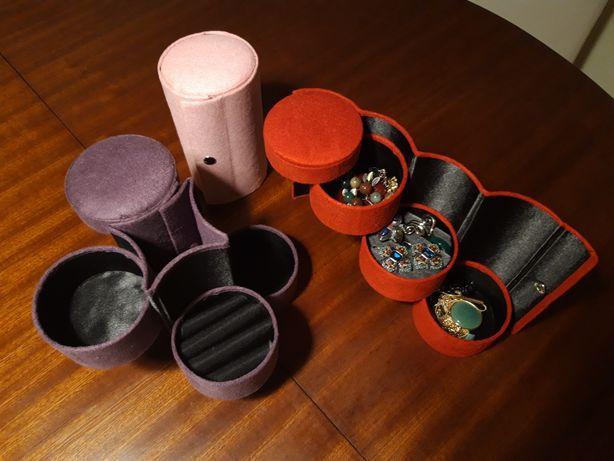 3 porta-jóias (3 cores) - NOVOS! (Preço pelo conjunto)