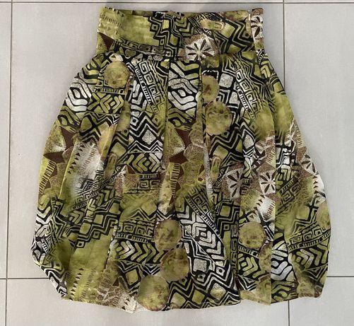 Wzorzysta spodnica jesienne kolory