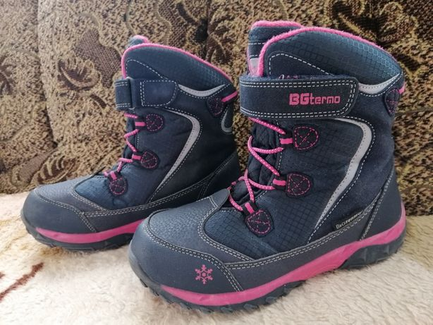 Термоботинки b&g для девочки 33р, 21-21,5см. Зимние ботинки.