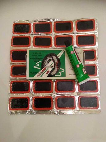 Набор Вулканизированных Резиновых Заплаток (Резиновые Латки) + Клей