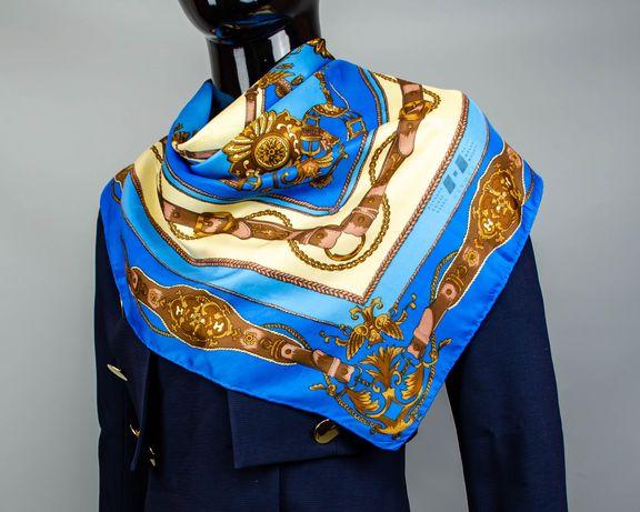 Фирменный шелковый платок Carven Paris.Большой платочек в стиле Hermes