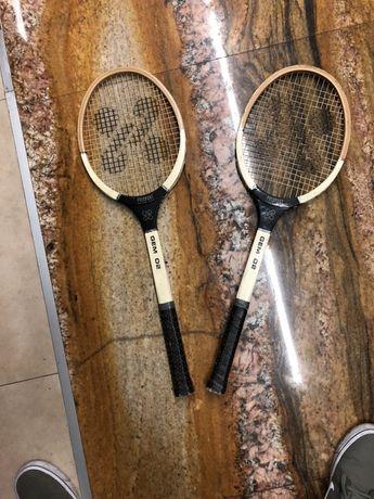 Rakiety tenisowe zabytek drewniane
