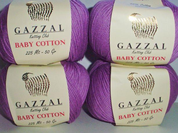 Пряжа полу хлопок газал Baby Cotton Gazzal